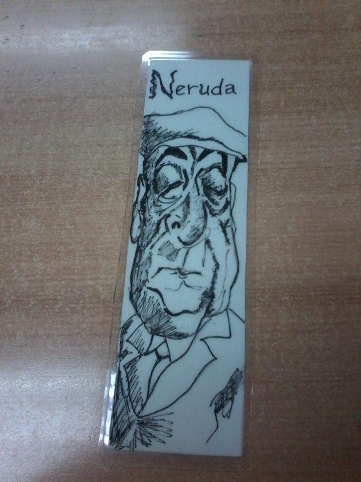 Neruda. Marcador de libro www.raicesescultura.cl