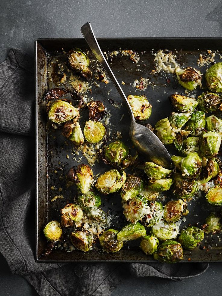 Vegearian Christmas meals: Parmesan Brussel Sprouts | Vegetable Recipes | Jamie Oliver
