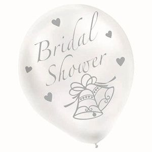 Bridal Shower Balloons - White  - $6.95 See more at http://myhensparty.com.au/