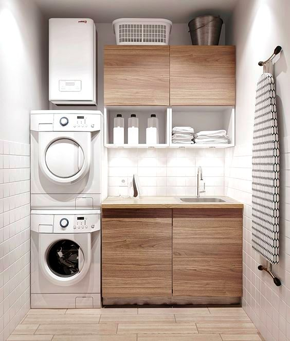 Modern laundry room ideas for small spaces                                                                                                                                                                                 More