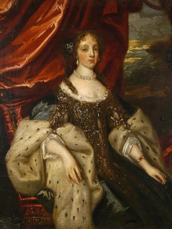 Catherine of Bragança (1638–1705), Queen Consort of King Charles II by school of Caspar Netscher