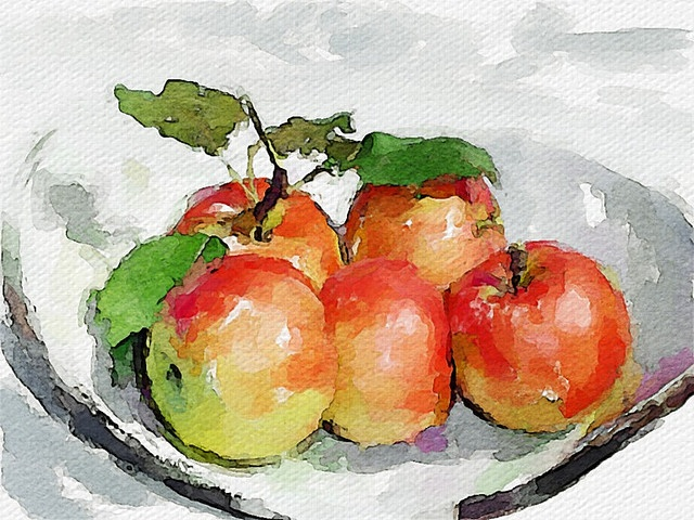 Love the watercolors in the front apple.