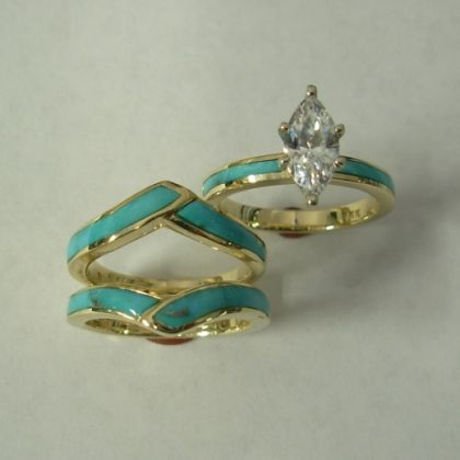 Best 25 Turquoise Wedding Rings Ideas On Pinterest