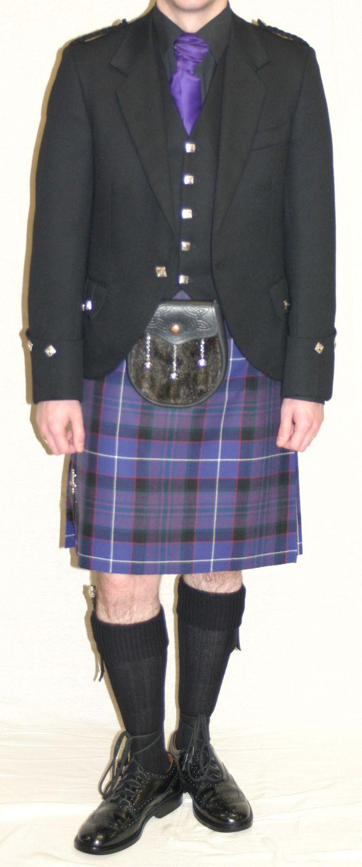 Western Isles kilt with black Argyll jacket & vest