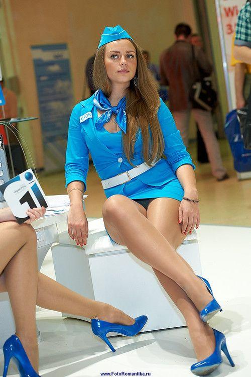 Onlywant work air stewardess in pantyhose string movies