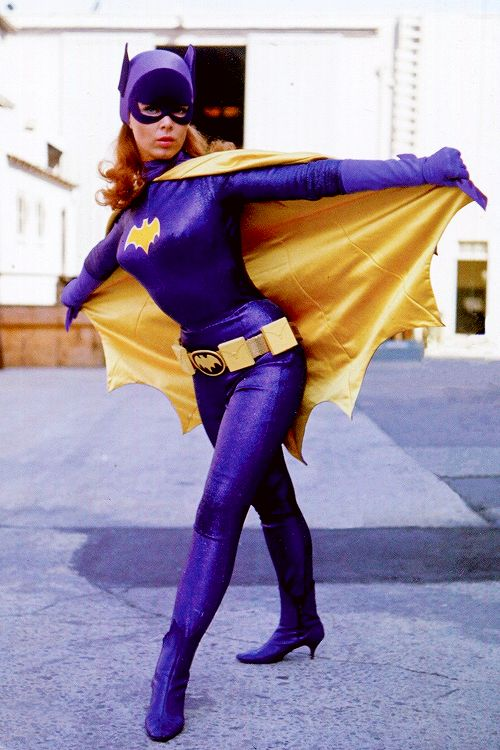 Yvonne Craig as Batgirl on the set of the Batman TV show c. 1960s