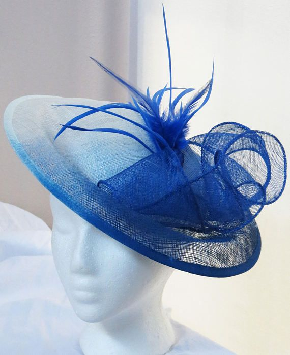 eaf88a519a5 Blue ombre fascinator white royal blue derby hat Kentucky
