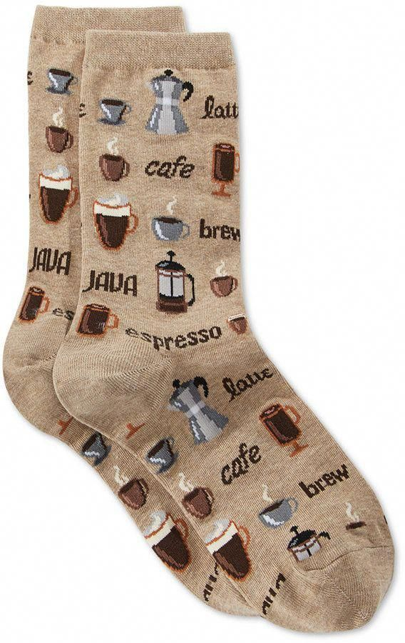Women's Coffee Fashion Crew Socks