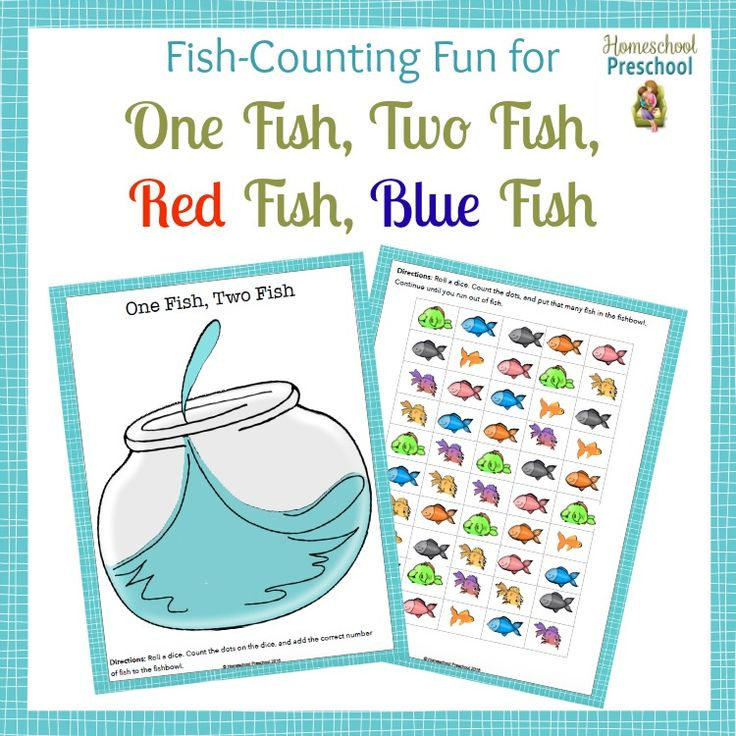 "This ""Fish Counting"" freebie is the perfect extension to your One Fish, Two Fish activities! 