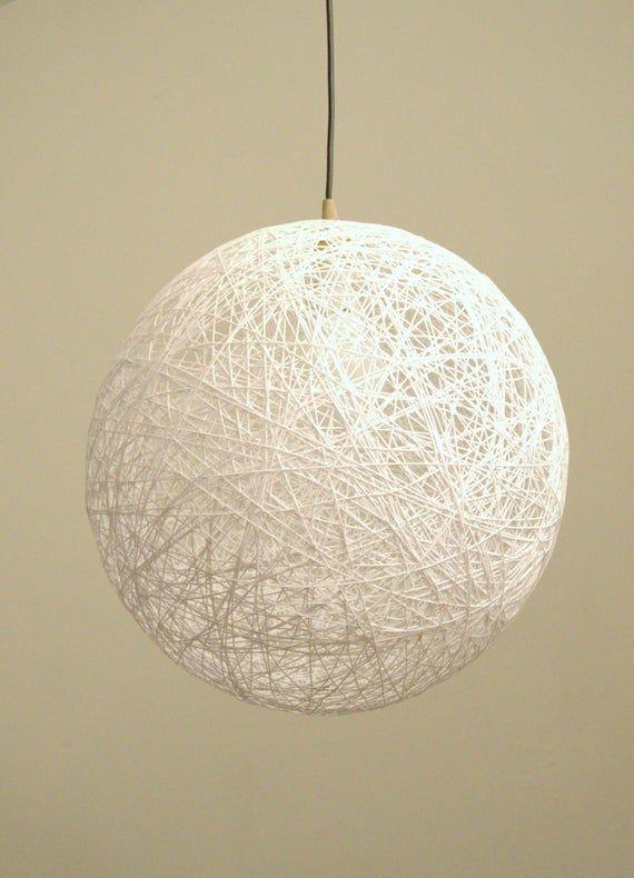 Sphere Pendant Light Modern Pendant Lamp White Lighting Fixture