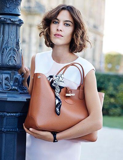 Longchamp continue son histoire de mode avec Alexa Chung... * Chloé Fashion & Lifestyle