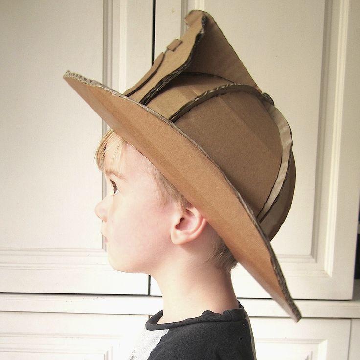 DIY Cardboard Fireman Helmet by www.zygotebrowndesigns.com