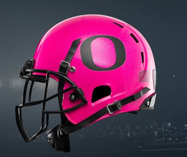organs pink helmits | Oregon will wear pink helmets for breast cancer awareness | Saturday ...