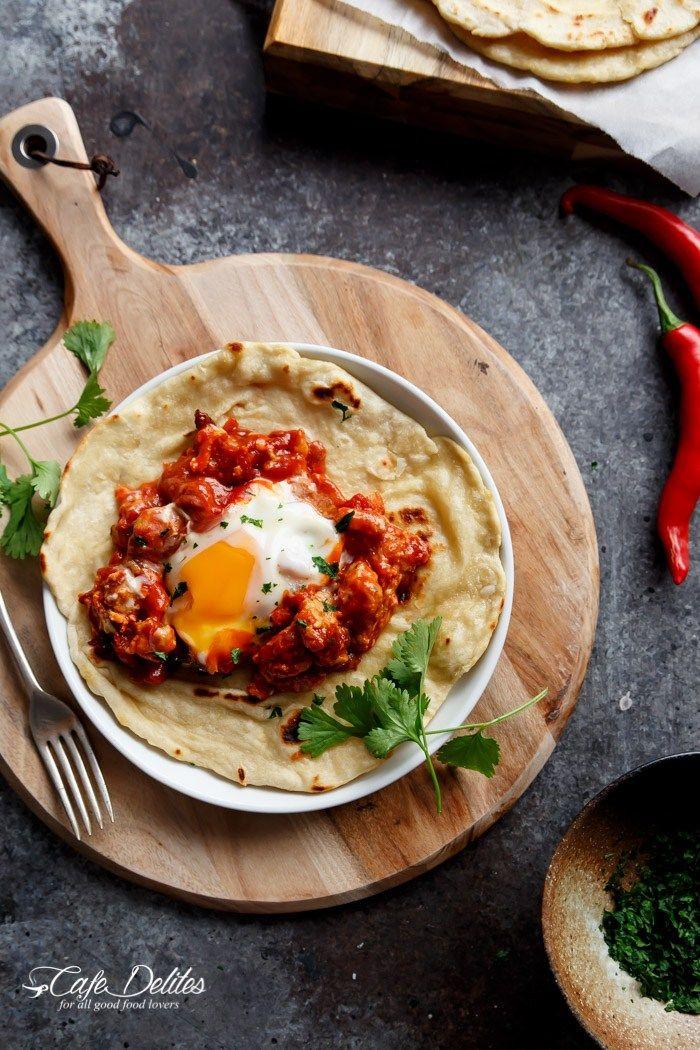 Eggs In Tomato Sauce (Shakshuka) | http://cafedelites.com