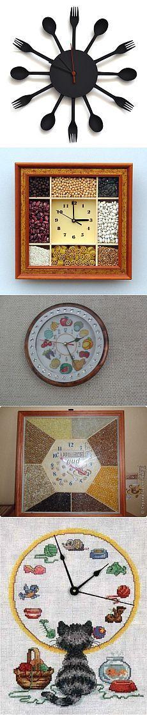 часы своими руками на кухню