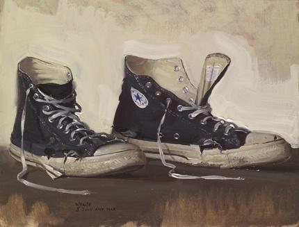 Robbie Wraith: 'Mr Wraith's Footsteps'   Oil on Panel