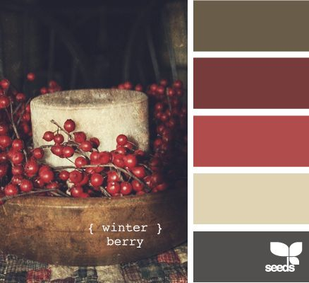 winter berry. this may be my pallet (minus the brown)...i want to avoid seeming too holiday. but it is a winter wedding. i should embrace it (somewhat)!