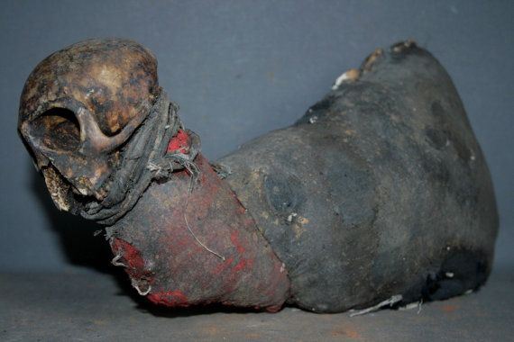 Very Rare & Intense Haitian Zombie VOODOO Vodun Paket from Altar      On SALE on Etsy, $399.00