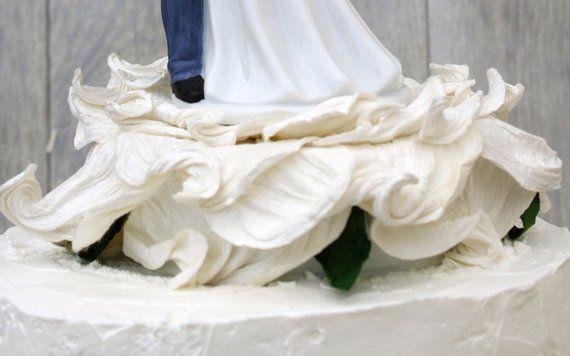 Lasso der Liebe Rose Blossom westlichen Hochzeitstorte Topper – benutzerdefinierte gemalte Haarfarbe erhältlich – 10176