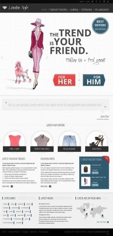 JM-Fashion-Trends, blue template version