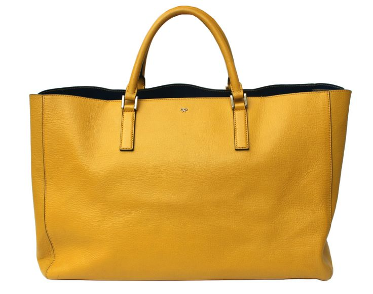 5 Popular Purse Brands That You Need to Know About - Anya Hindmarch Featherweight Ebury Bag in Yellow
