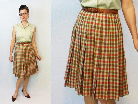 9c5231ecca 1960s Skirt / 60s Skirt / Bobbie Brooks / Plaid Skirt / Pleated Skirt / Vintage  Skirt / 1950s Skirt | Products in 2019 | Skirts, 1950s skirt, Fashion