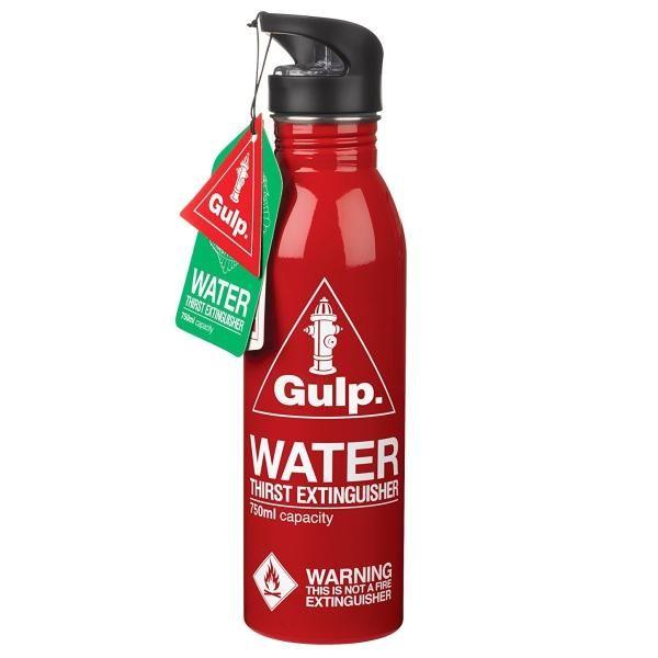 GLUGG  |  GULP. Water Bottle Thirst Extinguisher - Red #s'well #oasis #wantone #waronwaste