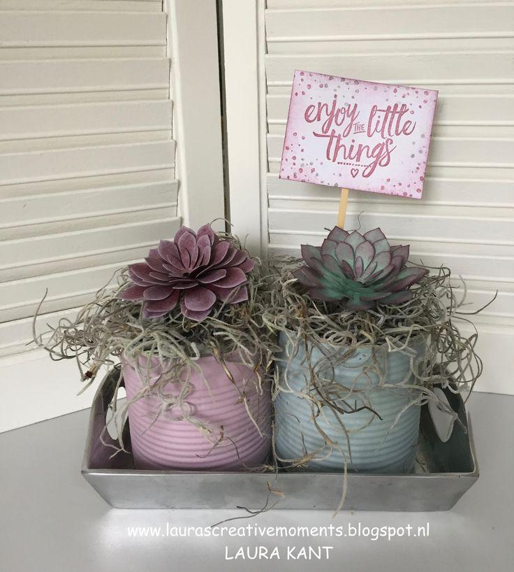 Succulent Garden Framelits, Stampin' Up! - Spring/Summer 2017 catalog - Enjoy the little things