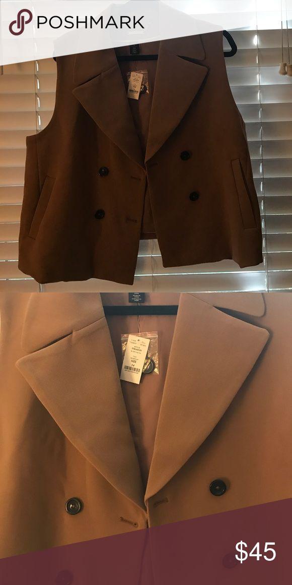 Camel vest from white|black market Brand new, waist length vest White House Black Market Other