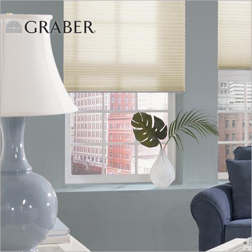 Cordless pleated shades give windows a modern, minimalist look.