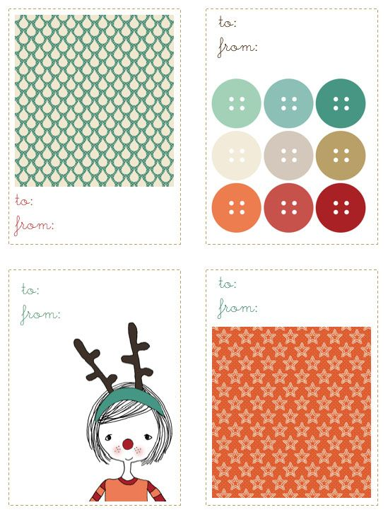 gift tags... free download