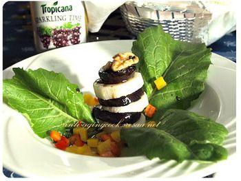 茄子と長芋を使ったレシピがコチラ。色味がとても綺麗なので、お客さんに喜ばれます♡