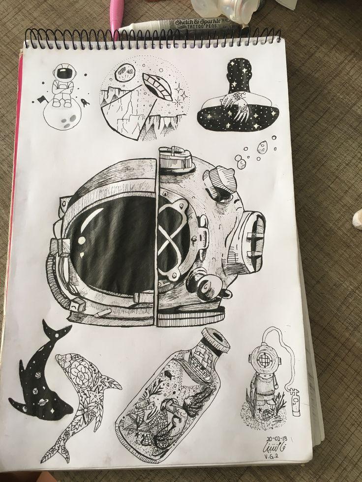 Distance love #astronauta #buzo Astronautas dibujos
