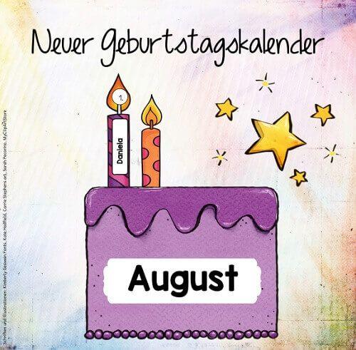 """Neuer Geburtstagskalender """"Kuchen mit Kerzen"""" …"""