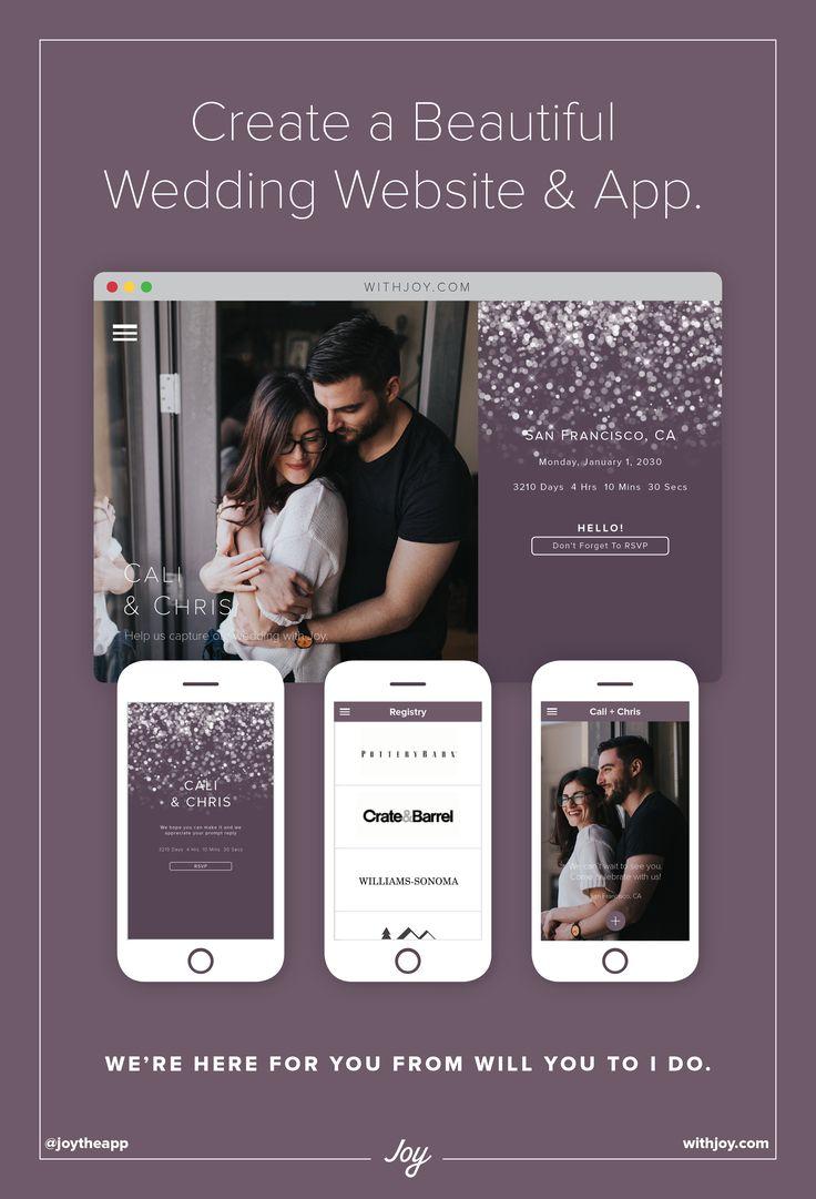 34 best joy wedding website themes images on pinterest