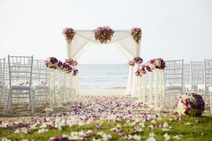 Stunning beach ceremony set-up.