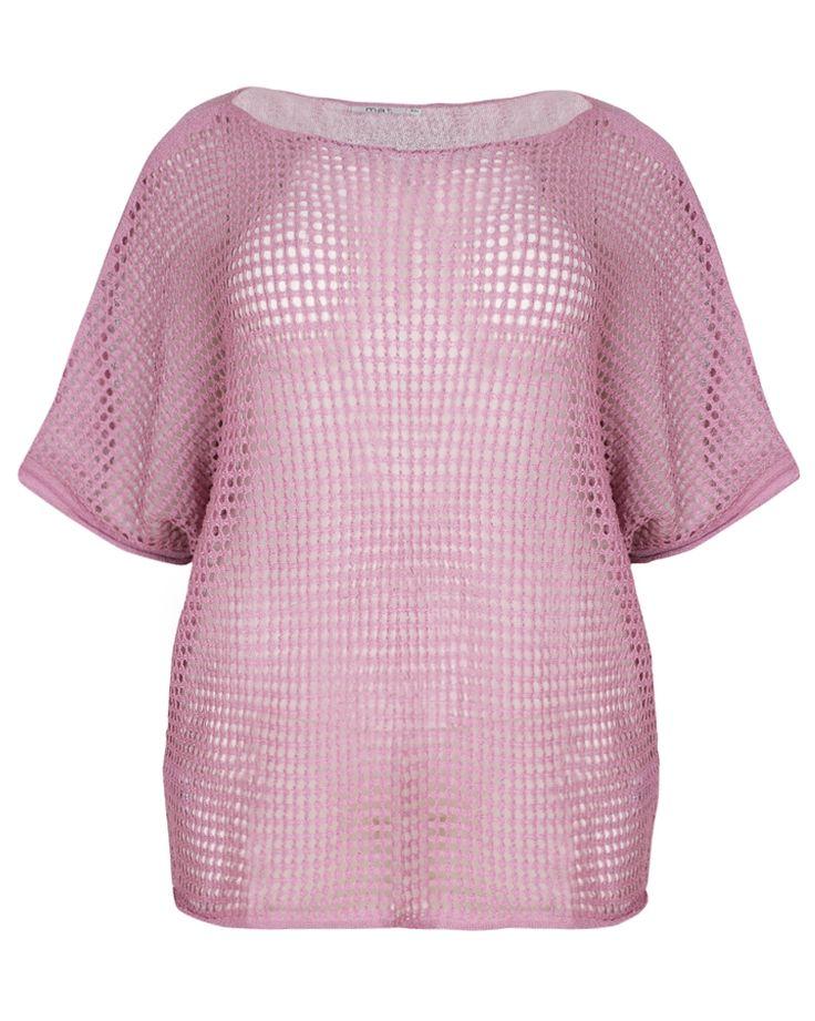 #PlusSize Μπλούζα με διχτυωτή πλέξη σε dark pink  * Για αγορά online κλικ πανω στην εικονα