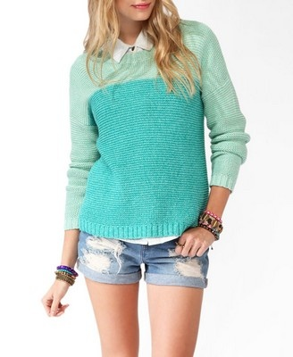 Monochromatic Dropped Shoulder Sweater #sweaterweather