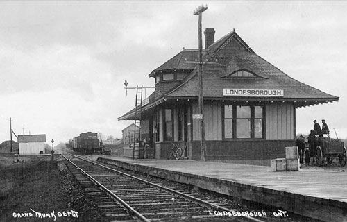 LONDESBOROUGH , Ontario - joint Grand Trunk & Canadian Pacific Railways depot