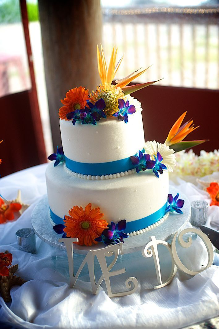 wedding cakes with orange flowers 17 best ideas about blue orange weddings on 26064