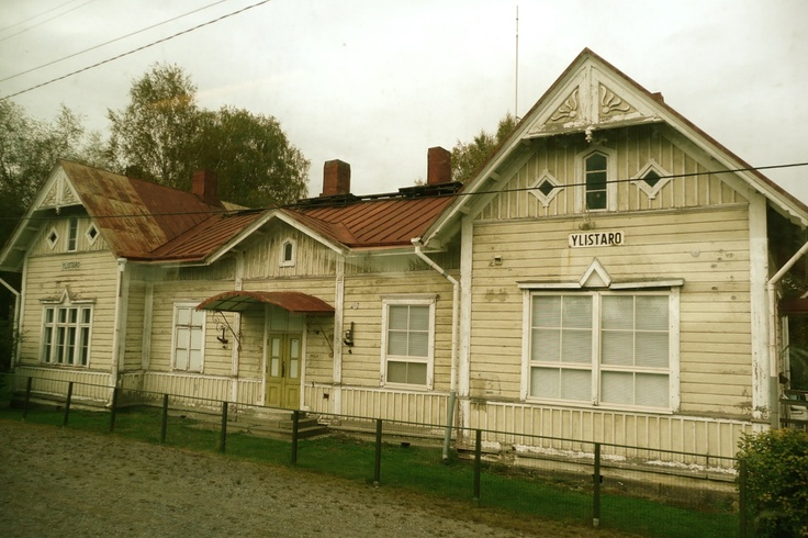 Old train station building in Ylistaro, Finland