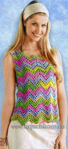 blusa hecha punto en el verano de hilados melange