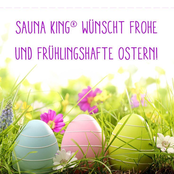 Frohe und frühlingshafte Ostern!  #Saunaking #Ostern