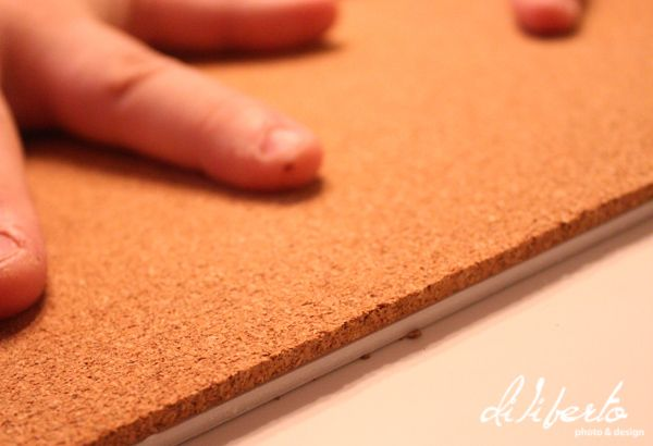 make a fabric covered cork board
