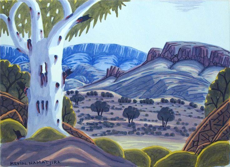 West MacDonnell Ranges by Kevin Namatjira