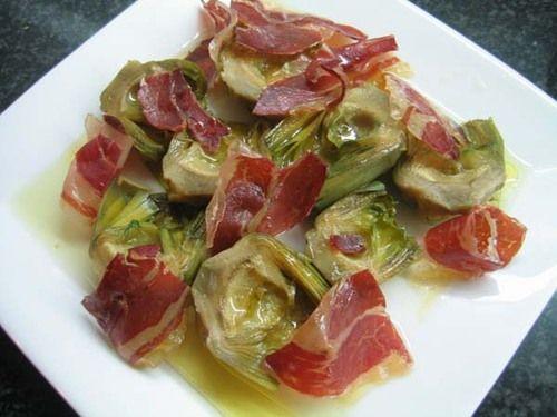 Receta :: Alcachofas con jamón ibérico - Homusibericus y el Cerdus Ibericensis - Blogs - Comunidad Socialibericus