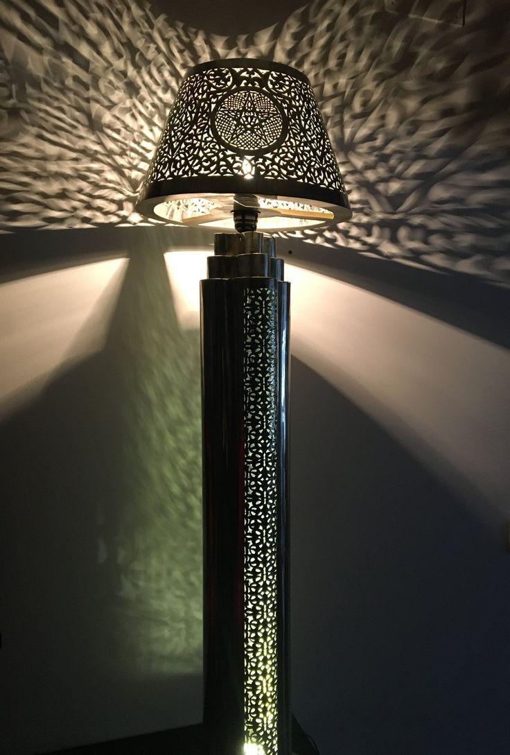 Lámpara marroquí de cobre hecha a mano de Mialfombra en Etsy