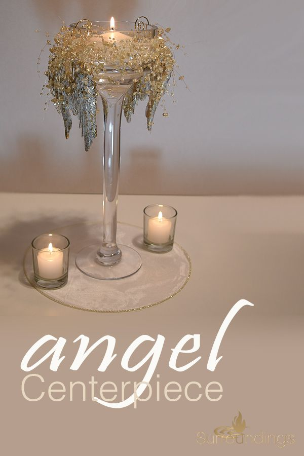 Angel Floating Candle Centerpiece Kit Floating Candle Centerpieces Candle Centerpieces Christmas Centerpieces