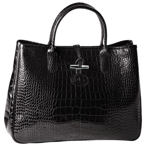 Sac Longchamp, Roseau Croco Noir | Bags bags bags | Pinterest | Longchamp \u0026middot; Le Pliage Cuir - Large travel bag