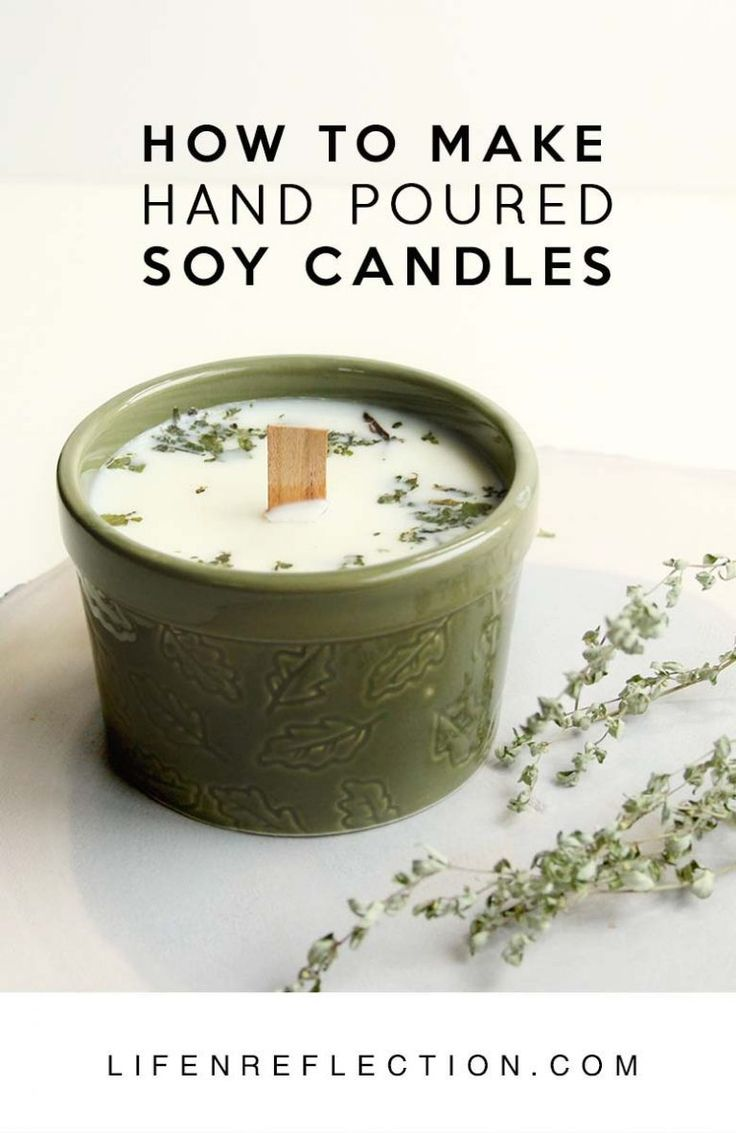 How to Make Blue Spruce DIY Hand Poured Candles Homemade